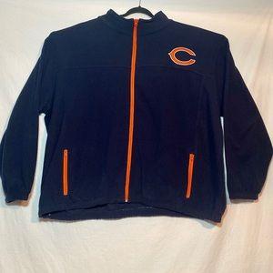 NFL Chicago Bears Fleece Full Zip Jacket Men's 5XL